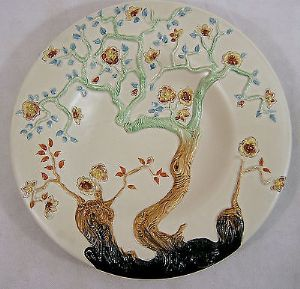 Clarice Cliff Art Deco 'Indian Tree' Large Circular Charger - 1930s - SOLD